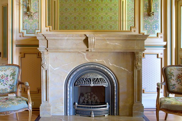 Faux Marble Fireplace Mantel