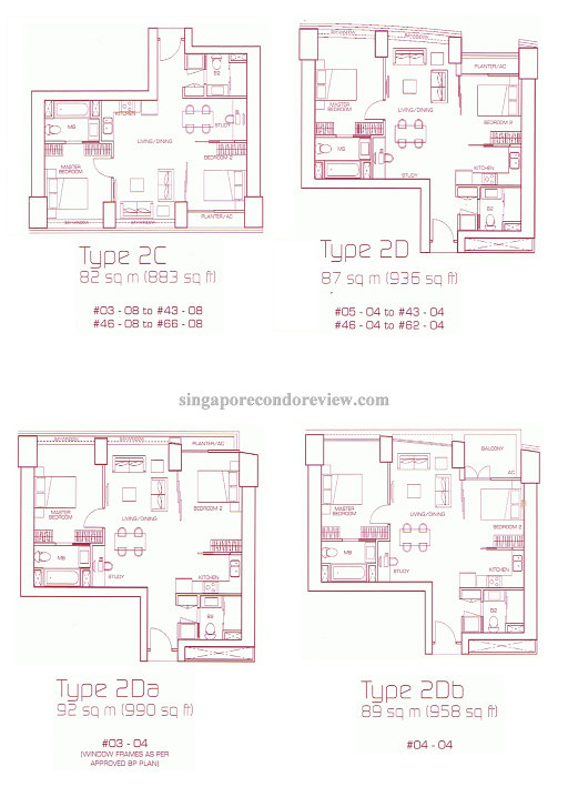 floor plan for stack 4, 2bedrm 900+ sqft