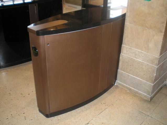 Thermal metal finishes. Bronze finished Gunnebo Entrance Control.