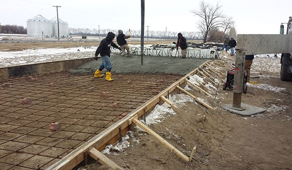 Ongoing Concrete Installation
