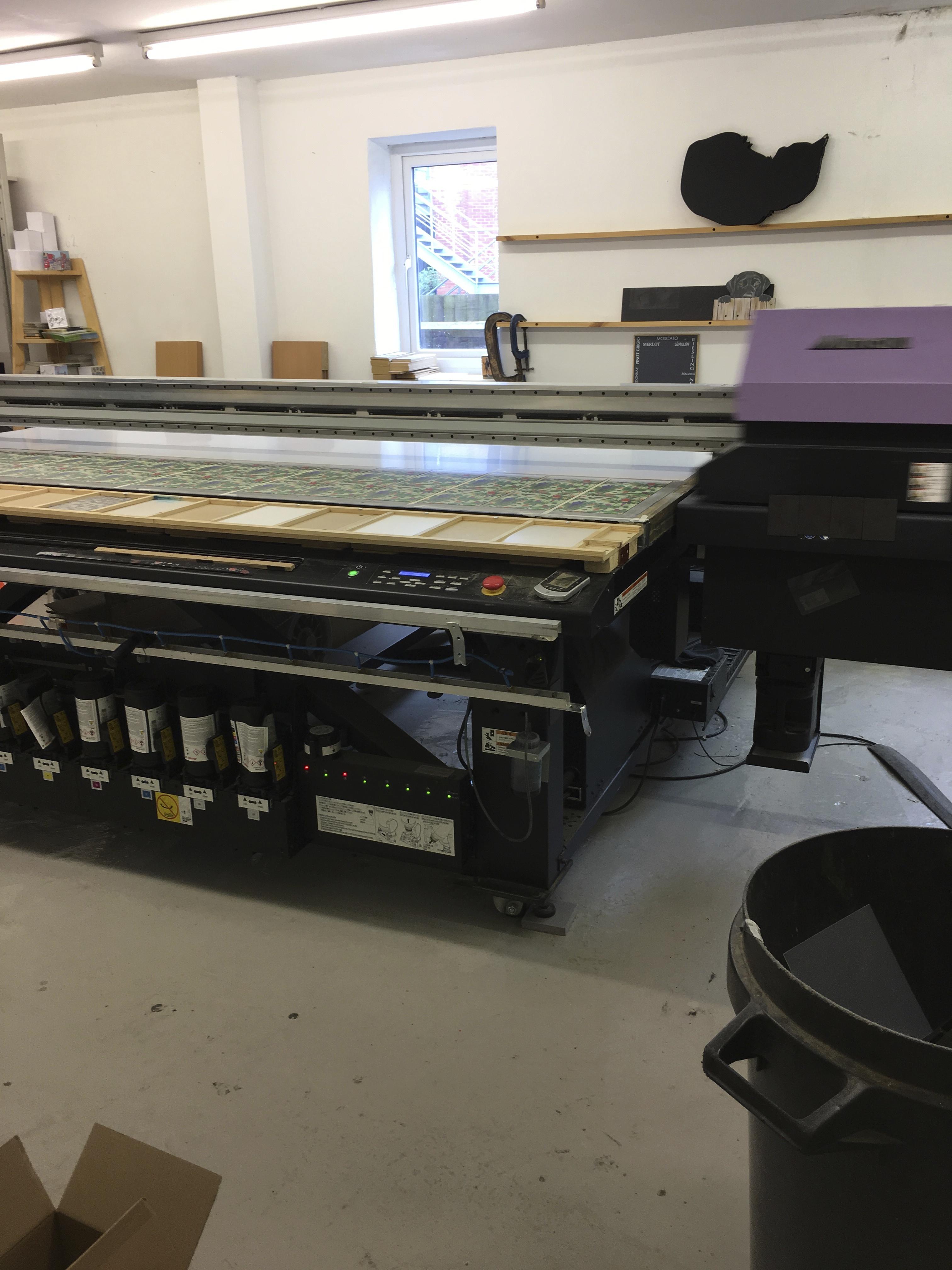 UV ink jet printing