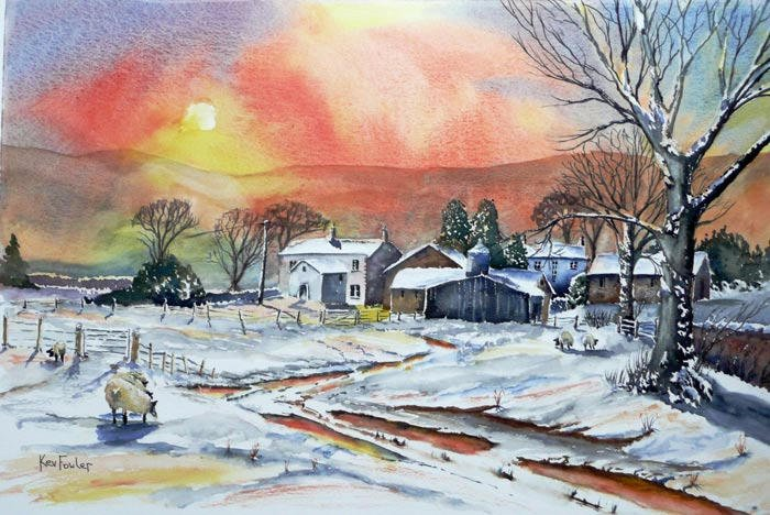 Farmhouse at Longridge Watercolour .......... Sold