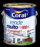 TINTA ACRÍLICA FOSCA RENDE MUITO CORAL BRANCO GELO PALHA