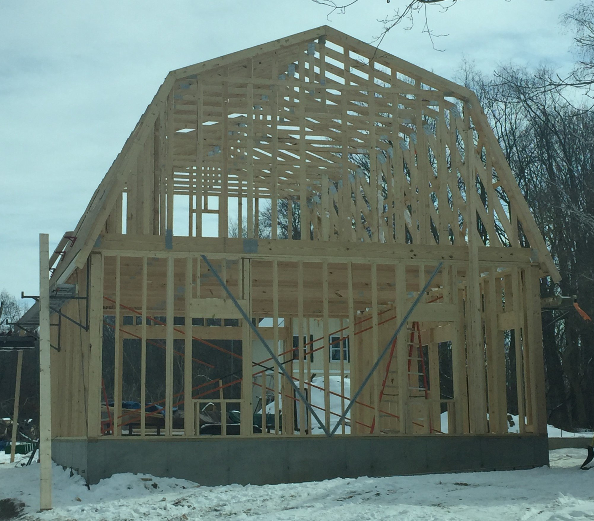 Gambrel Roof Barn Construction