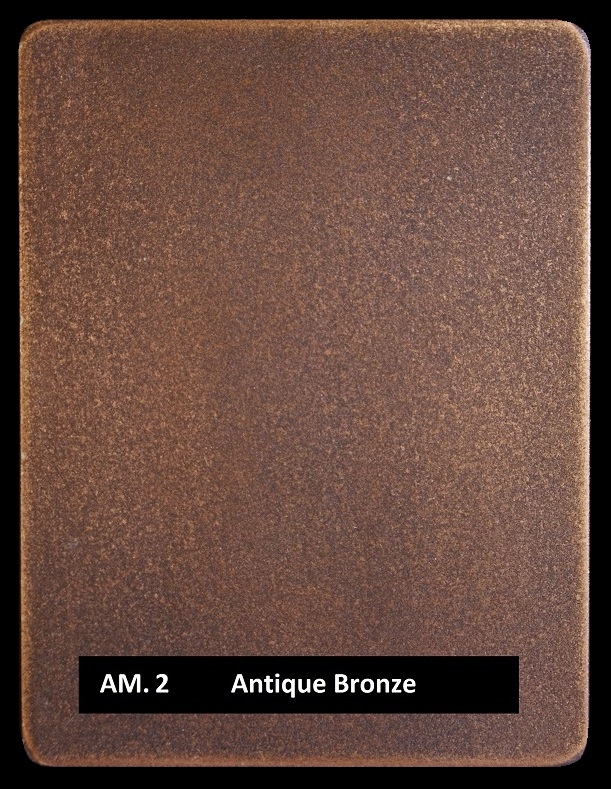 Metal finishes - metal coating AM.2 Antique Bronze