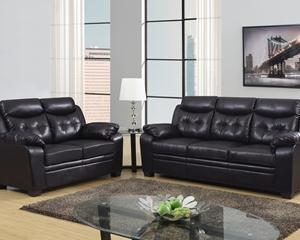 8800 Espresso Sofa, Love Seat
