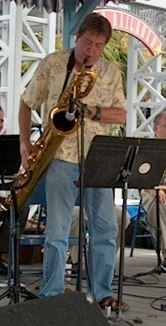 Langford on Bari at Kemah Jazz Festival