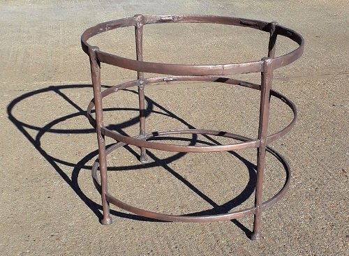 Bronze coated table base - Artistic Metals