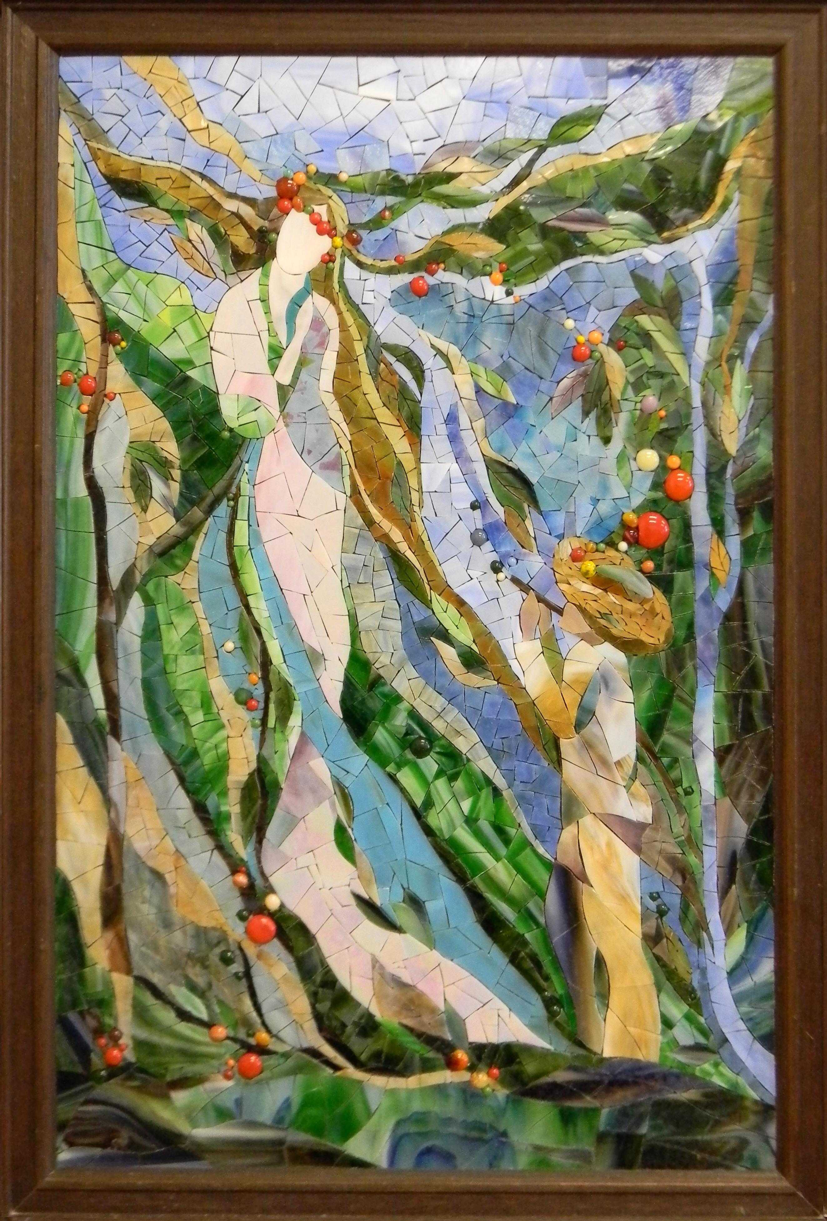"""Forest Song"" by Nataliya Guchenia Size - 27-1/2""H X 17-1/2""W $2,750.00"