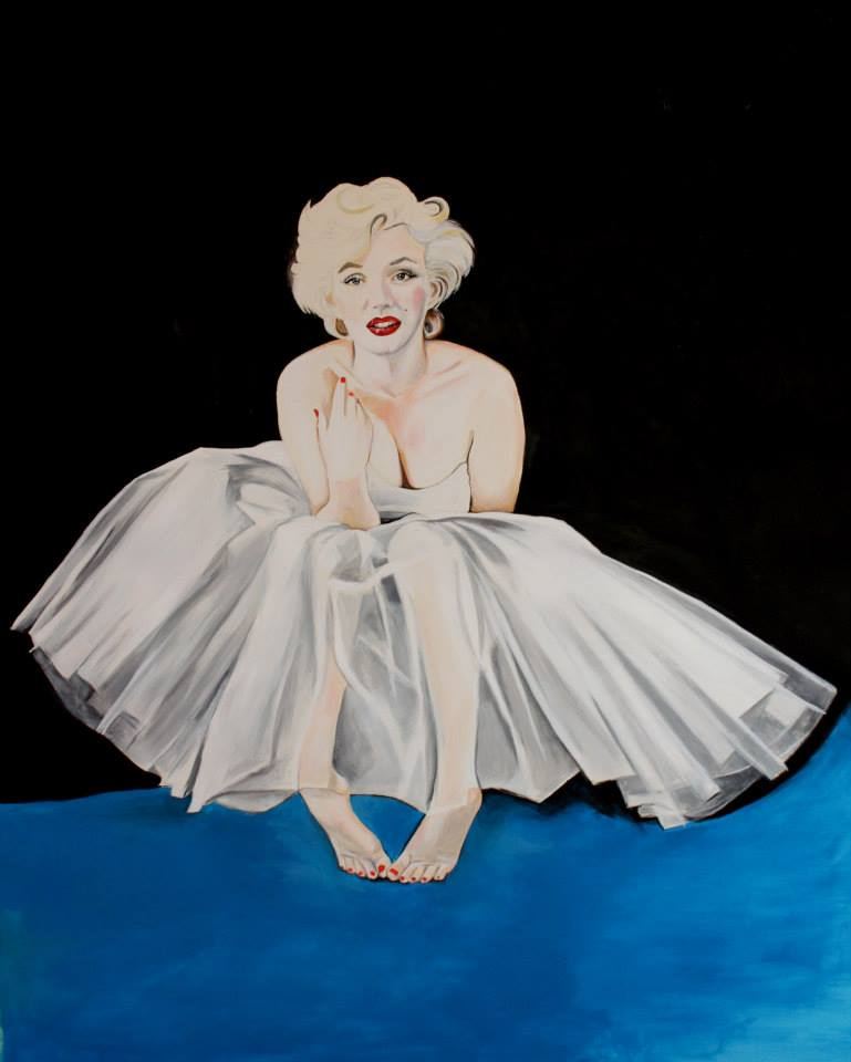 Marilyn Monroe, Acrylic on Paper, 2014.