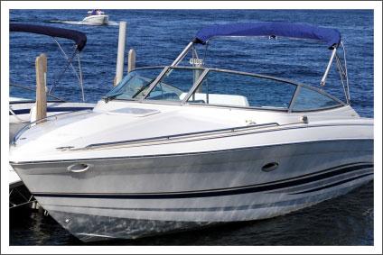 Boat on lake||||