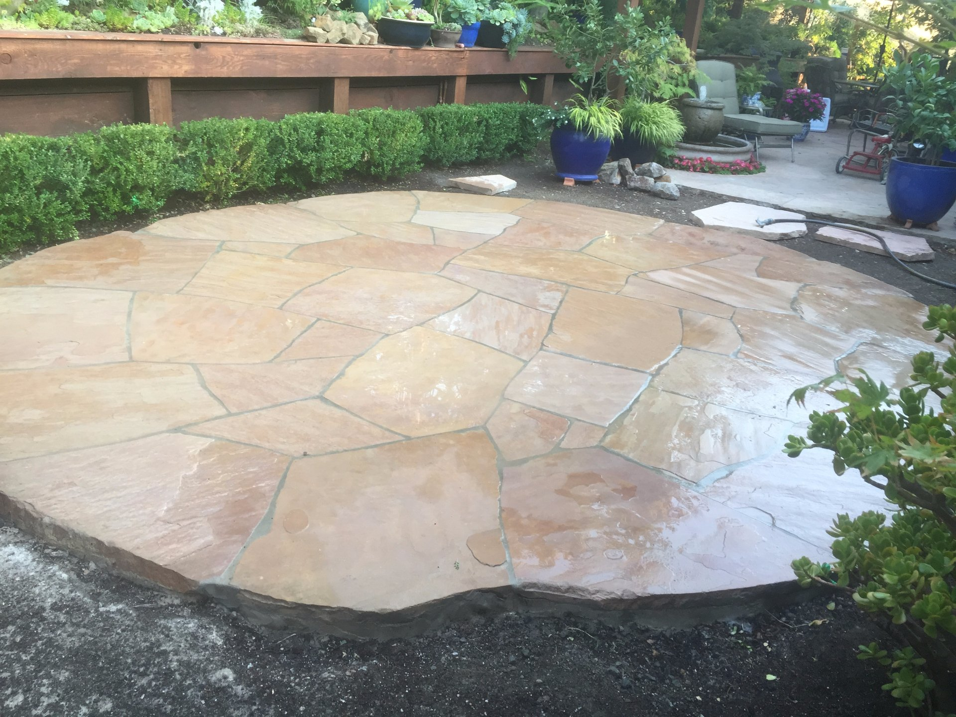 Flagstone patio Benicia, CA