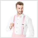 Light Pink Cummerbund and Suspender