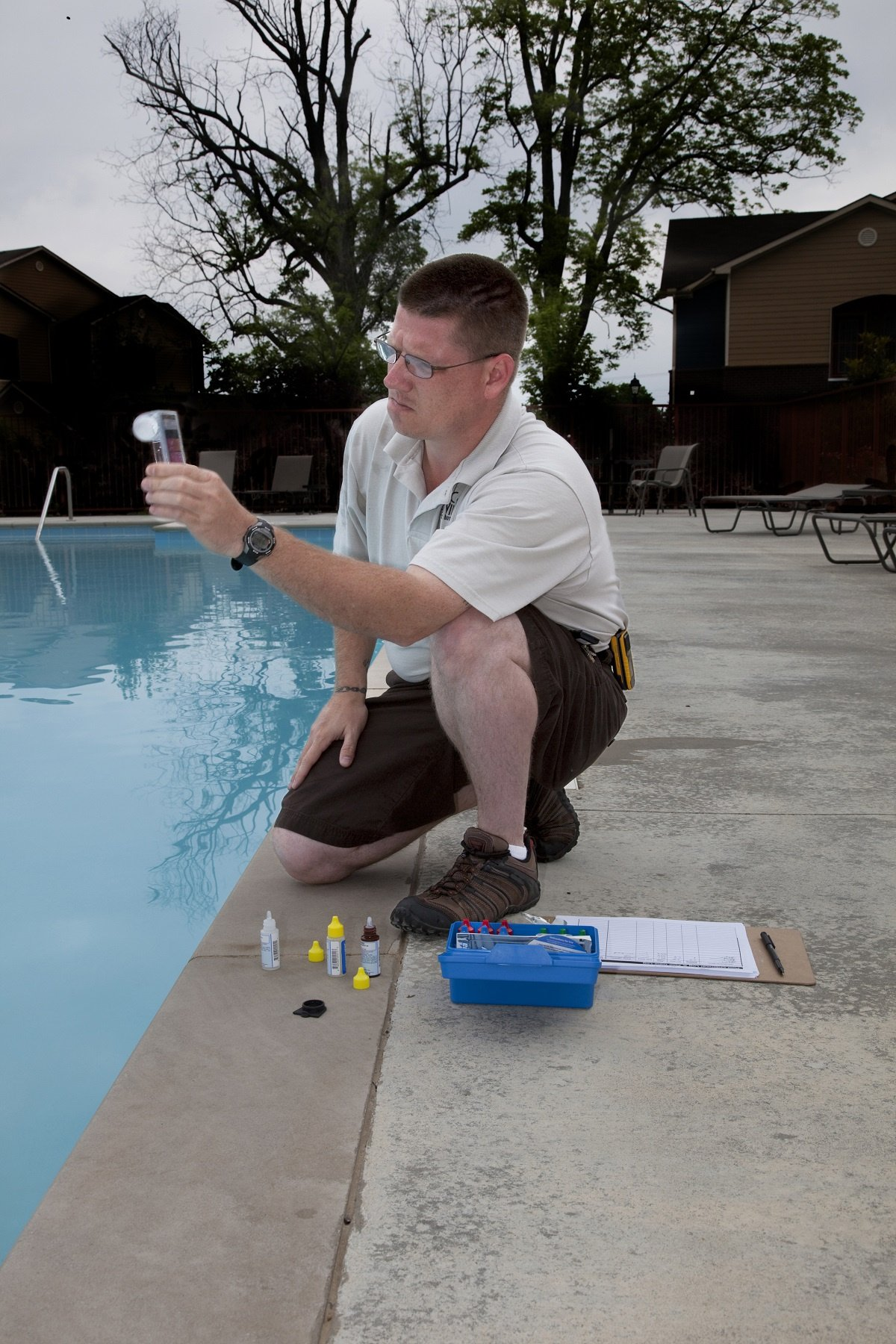 Test pool chemicals