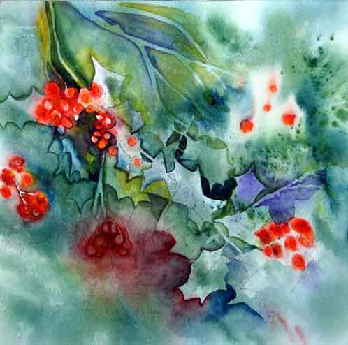 Holly Berries .. Watercolour