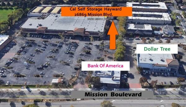 Cal Self Storage aerial view