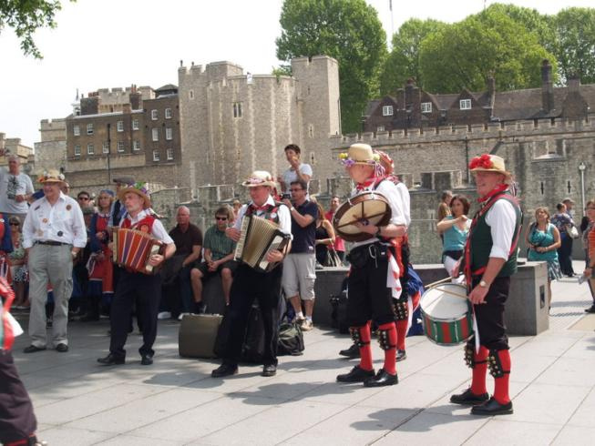 Merrydowners band at the Tower of London