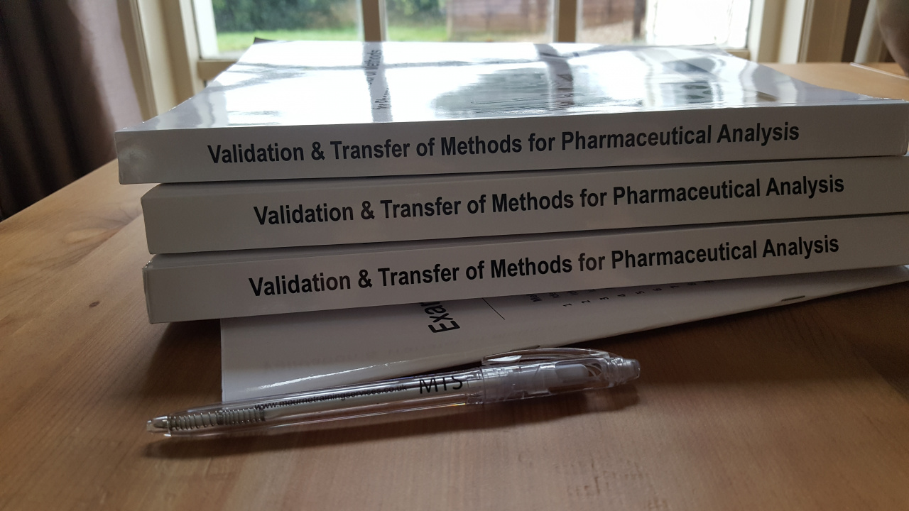 Course handouts for the course, 'Validation & Transfer of Methods for Pharmaceutical Analysis'