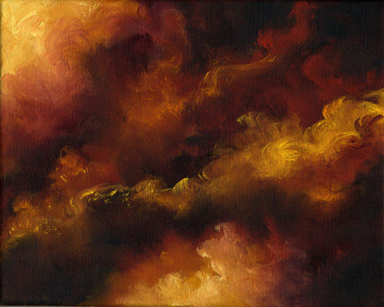 """Fire Storm ~ 8""""x10""""  Oil on stretched canvas"""
