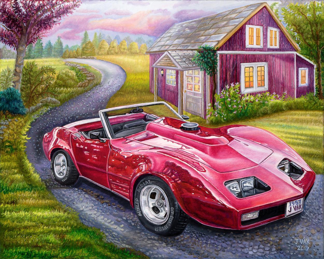 1973 Pontiac Firebird 24 X 30 Oil on Canvas          $3500           2017
