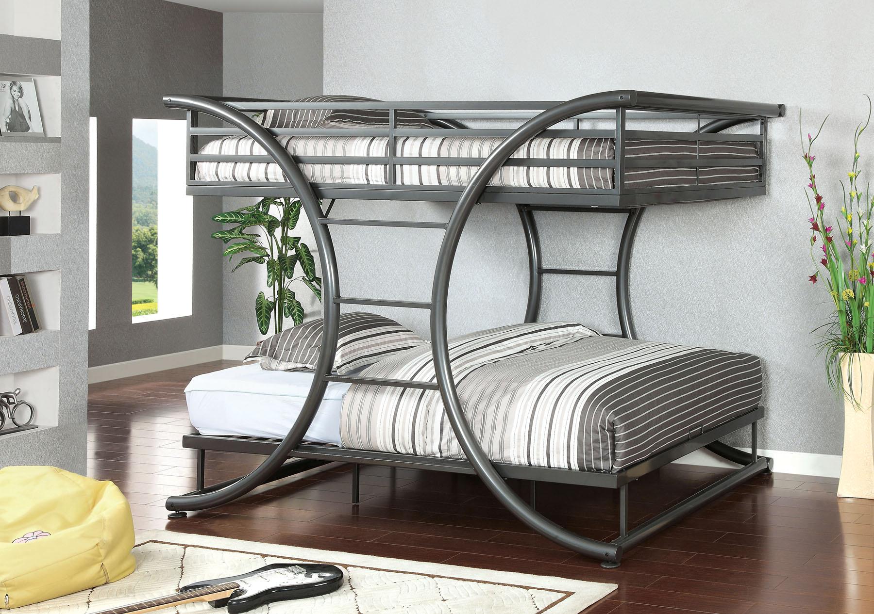 Lexis Bunk Bed (P.O CM-BK1036GM)