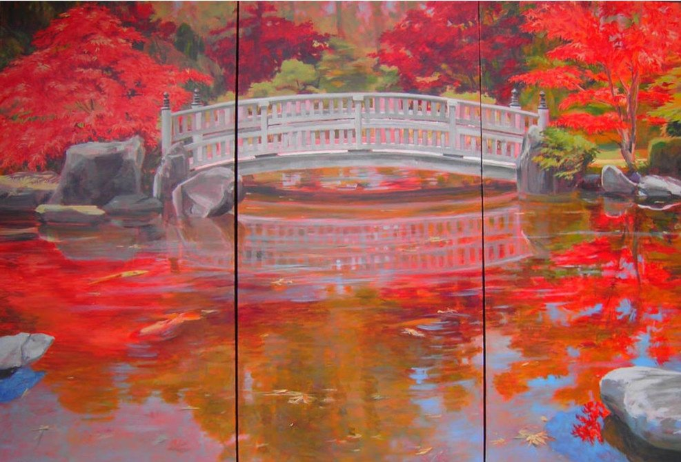 Delicate Balance Triptych 30x45