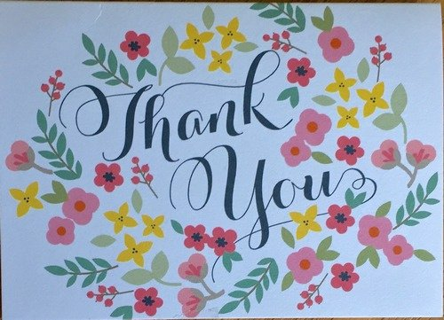 Wedding Thank You Card 2016 1