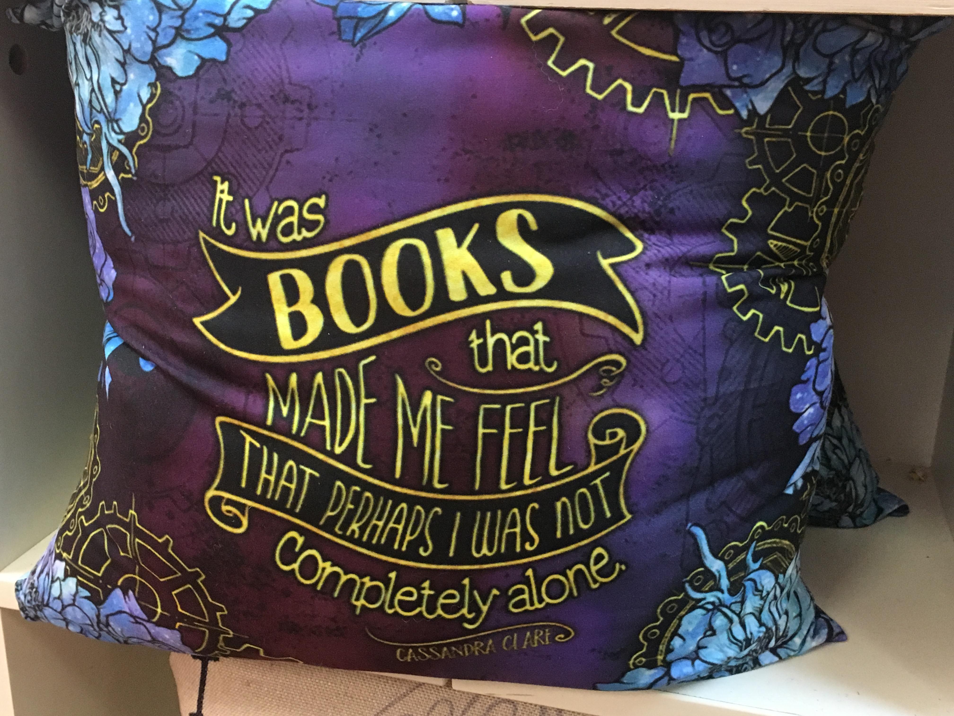 Book Lover's Throw Pillow