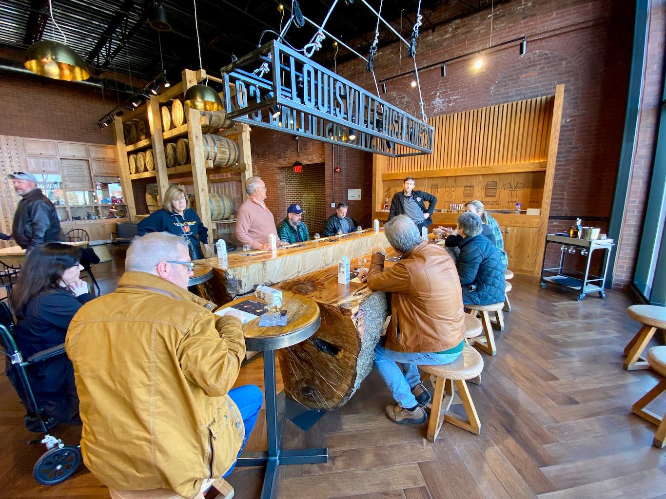 The tasting room - Angel's Envy Distillery