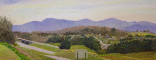 5. I-64 W at RT 11, Eastward View, 4.75x12 oil on panel