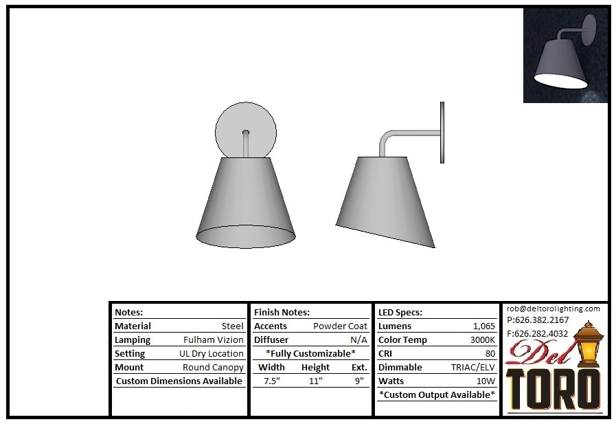 755W - Angled Shade Lamp