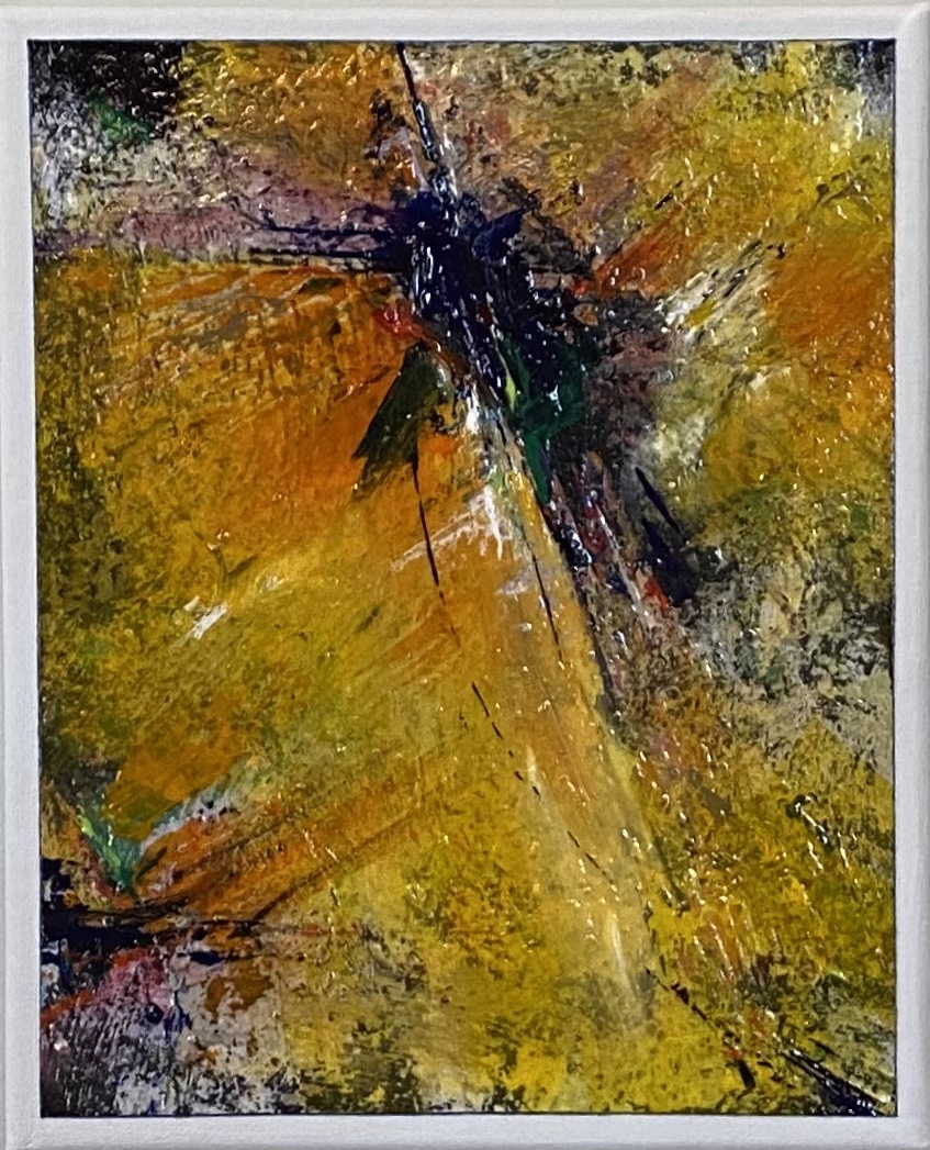 "Abstract Acrylic 8"" X 10"" $100."
