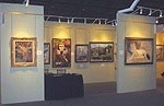 GALERIE RIENZO's Booth, Los Angeles Art Show, Santa Monica, CA - 2004