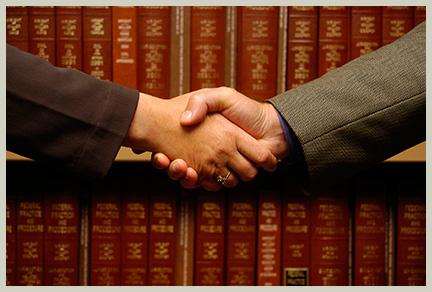 Attornies shaking hand||||