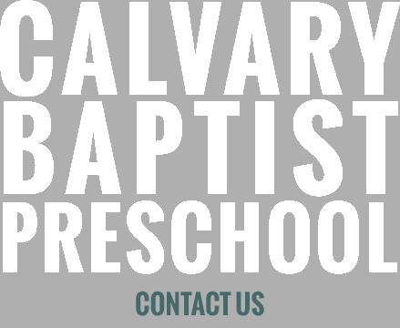 Contact Calvary Baptist Preschool in King, NC