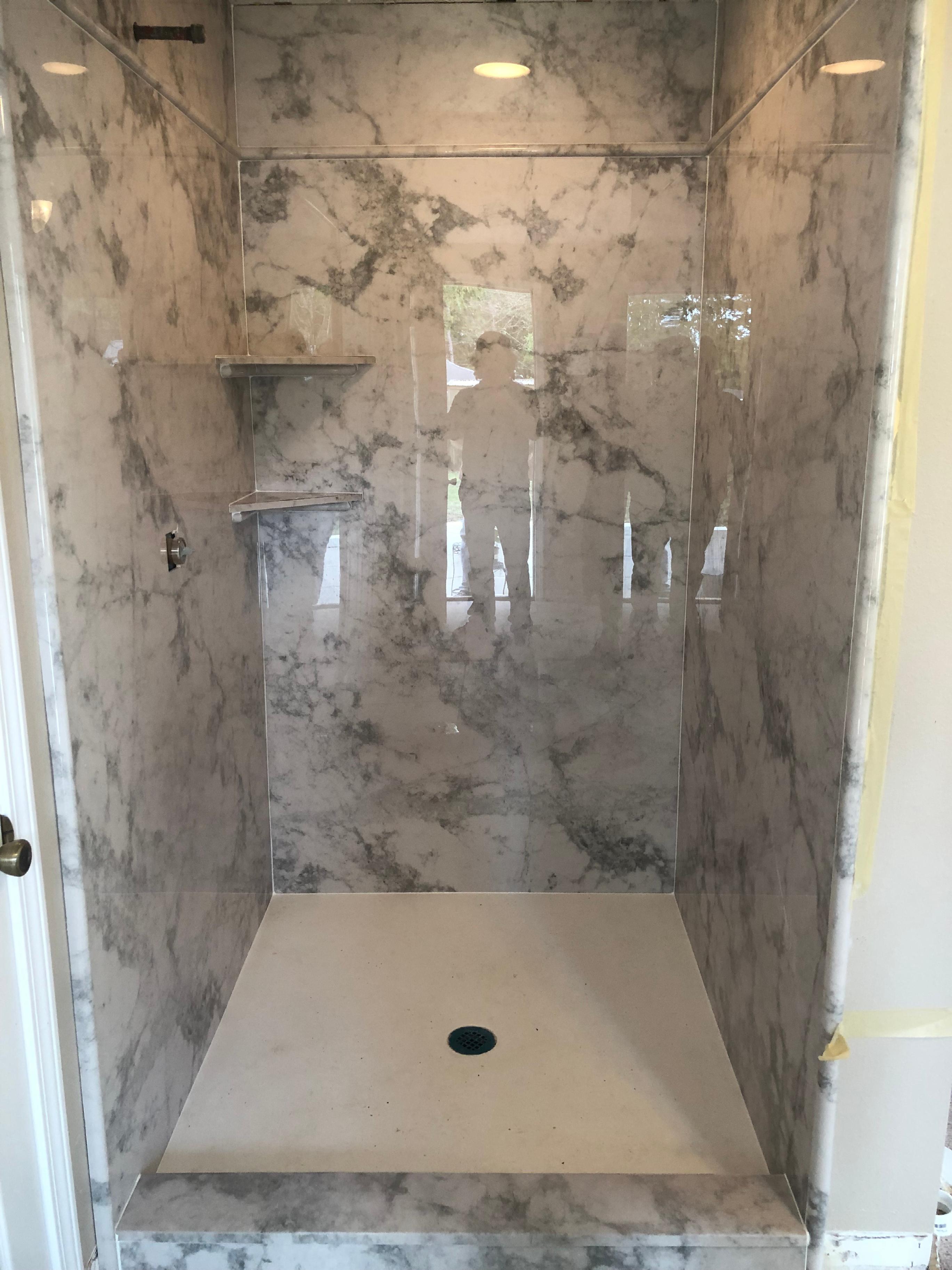 Complete bath remodeling