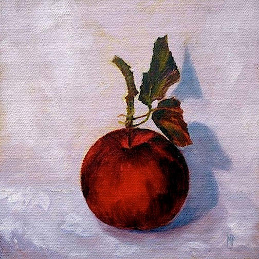 One Little Apple 6x6 oil on panel SOLD