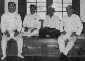 "Nakamura sensei with Morinaga Kiyoshi sensei (in black hakama) at the Yagyu Shogisaka Dojo, March 1978. (from Dai Nippon Toyama Ryu Iaido, Morinaga Kiyoshi, 1982) Morinaga Kiyoshi (Colonel, retired) formed the Kyoto-based Dai Nippon Toyama Ryu Iaido Shinkokai in 1977 (this ""Greater Japan Toyama Ryu Preservation Society"" should not be confused with Nakamura sensei's All Japan Toyama Ryu Federation). Morinaga sensei participated in writing the two Toyama Military Academy's Kenjutsu Manual of the 1930s, and the Army Sword Methods and Testcutting manuals in 1940 and 1944. Nakayama Hakudo created the Toyama Ryu iai forms in 1925."
