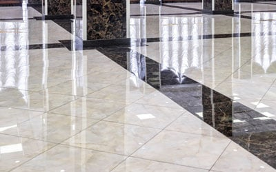 Marble Floor In The Luxury Lobby of Office