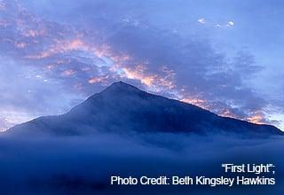 """First Light""; Photo Credit: Beth Kingsley  Hawkins"