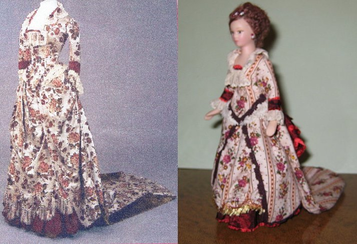 12TH SCALE LADY DOLL REDRESS PICTURE SUPPLIED  TO MATCH STYLE OF GOWN