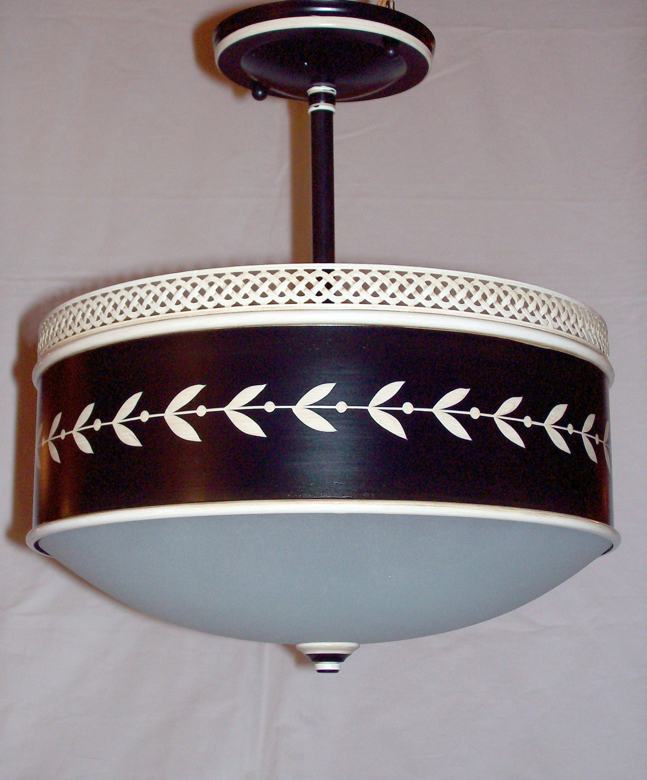 """Round Tole Pendant DP 3406 (12"""" D as shown) various sizes available"""