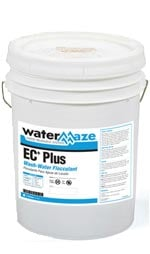 Water Maze EC-Plus liquid polymer is used to polish the water after being treated in the Water Maze electrocoagulation system.