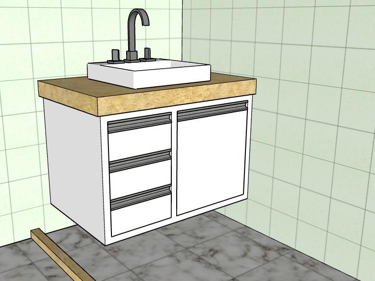 Projeto, armário de banheiro.