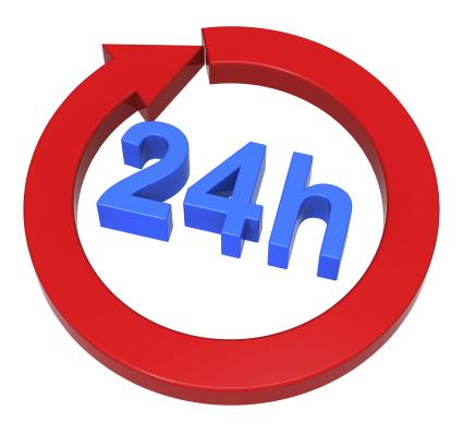 24 Hour Turn Around Service