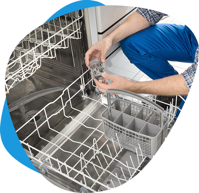 Technician Repairing Dishwasher