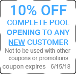 10% OFF COMPLETE POOL OPENING TO ANY NEW CUSTOMER
