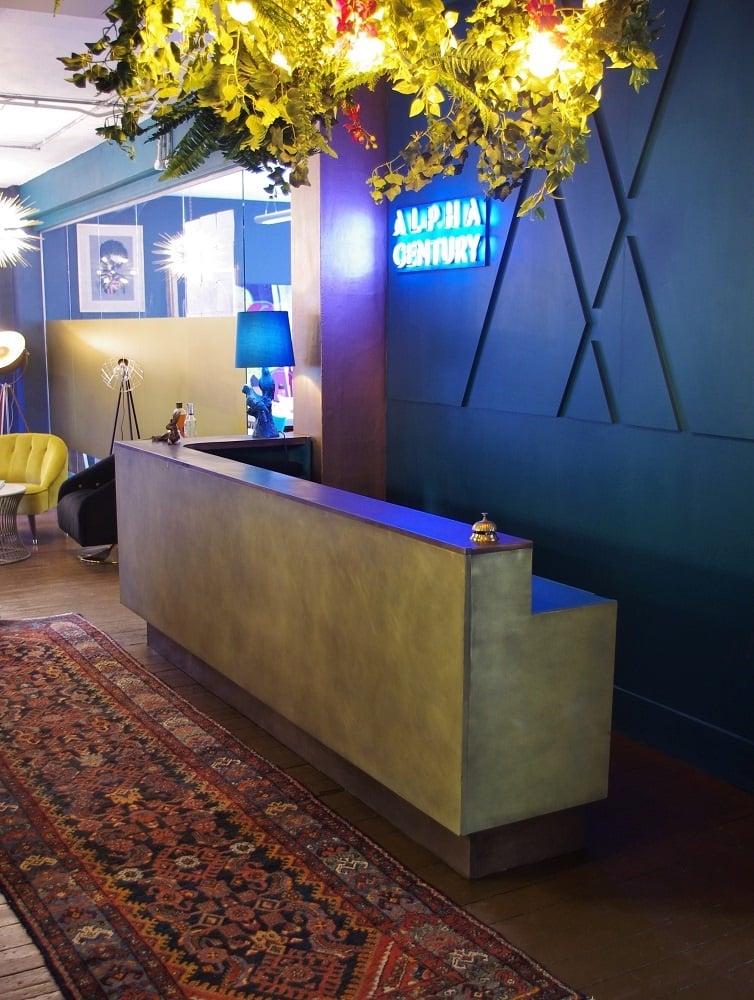 Bronze reception desk