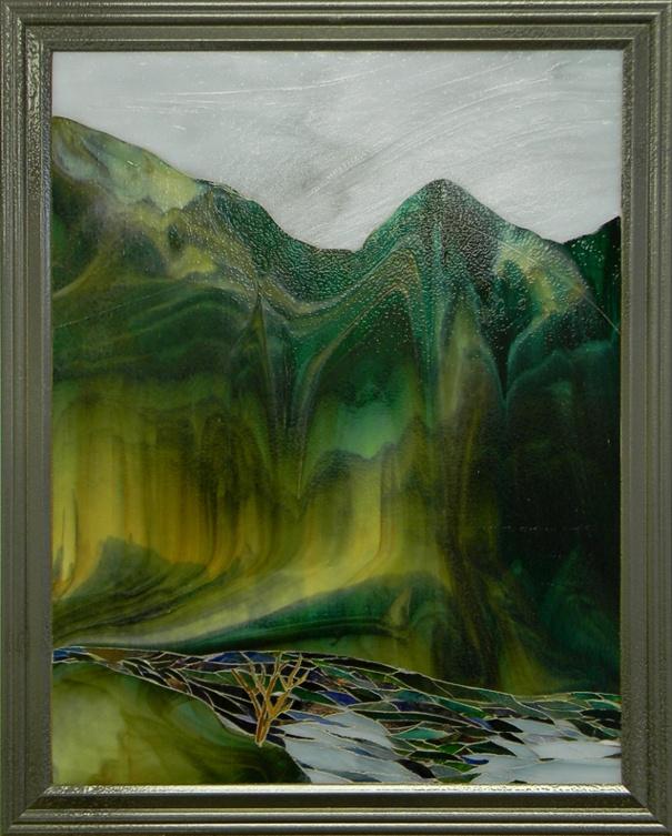 """After Rain"" by Urii Guchenia Size - 18""H X 14""W $600.00"
