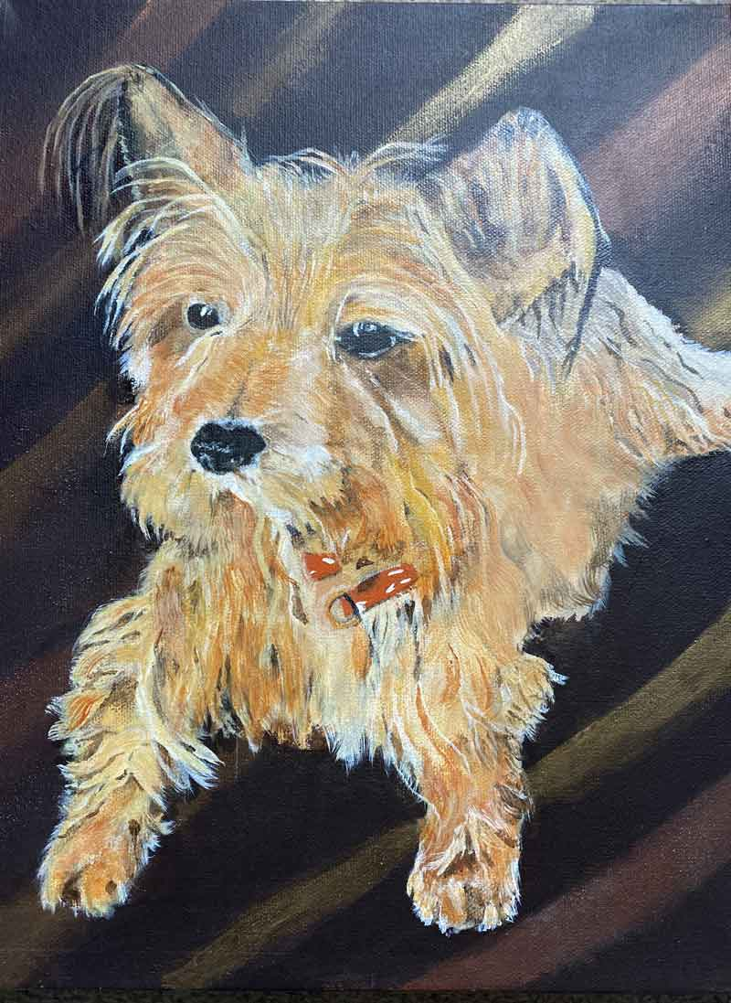Mitzy - Commission Acrylic on Canvas